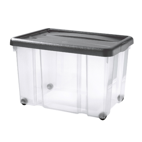 PUZZLE BOX WITH SNAP-ON LID AND WHEELS | 60 L