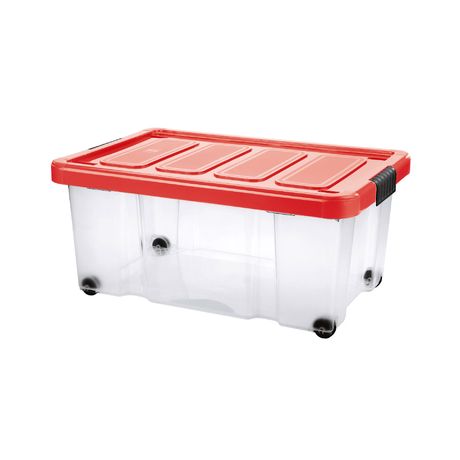 PUZZLE BOX WITH LID AND WHEELS | 43 L