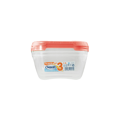 NUVOLA FRIDGE BOX<br/>SET 1 X 3 SQUARE | 1 L