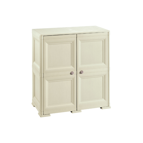 OMNIMODUS CUPBOARD - 2 MODULES WITH WOOD-FINISH DOORS
