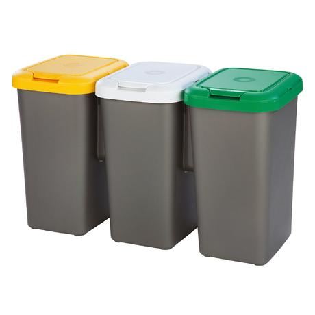 Tontarelli Shop Trio Dustbin For Separating Waste 25 L