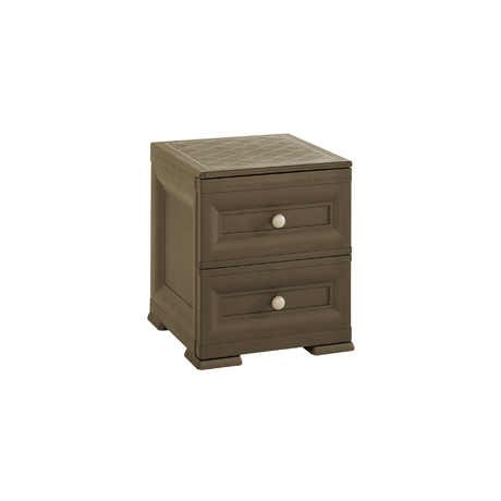 OMNIMODUS BEDSIDE TABLE - 2 DRAWERS