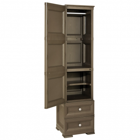OMNIMODUS WARDROBE WITH 1 HANGING SPACE AND 1 INTERMEDIATE SHELF 2 SMALL DRAWERS