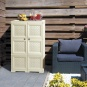 OMNIMODUS CUPBOARD - 3 MODULES WITH WOVEN LATTICE-STYLE DOORS - 1