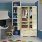 OMNIMODUS WARDROBE 2 HANGING SPACES 2 INTERMEDIATE SHELVES 4 SMALL DRAWERS - 1