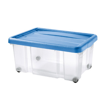 PUZZLE BOX WITH SNAP-ON LID AND WHEELS | 43 L