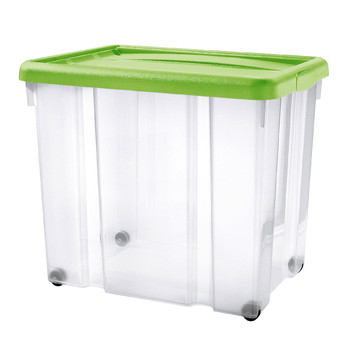 PUZZLE BOX WITH SNAP-ON LID AND WHEELS | 80 L