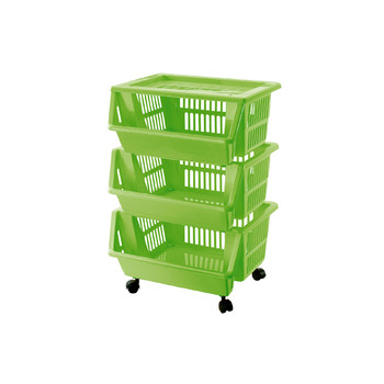 Unico Trolley 13 Open Containers1 Lid And Wheels