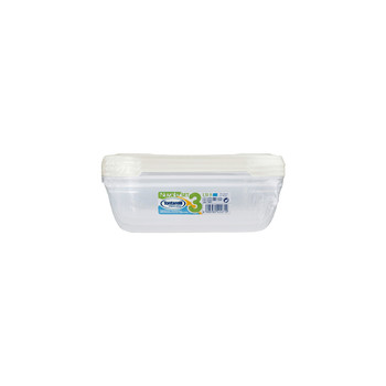 NUVOLA FRIDGE BOX <br/>SET 1 X 3 RECTANGULAR | 1,15 L
