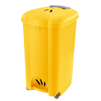 Carolina Pedal Bin With Wheels Without Internal Bucket | 50 L