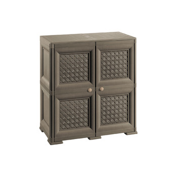 OMNIMODUS CUPBOARD - 2 MODULES WITH WOVEN LATTICE-STYLE DOORS
