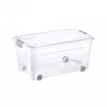 COMBI BOX WITH WHEELS AND LID WITH HANDLES | 43 L