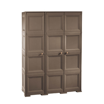 Omnimodus Cupboard - 3 Doors, 4 Modules With Optional Supports and Broom Compartment