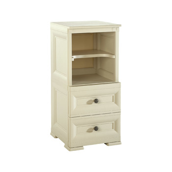 Omnimodus Bedside Table - 2 Drawers + Open Module With intermediate Shelf