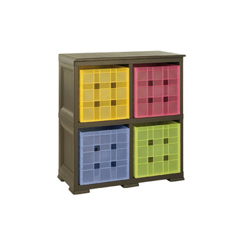 OMNIMODUS 4 MODULAR CUBED BOX STORAGE SHELVING UNIT