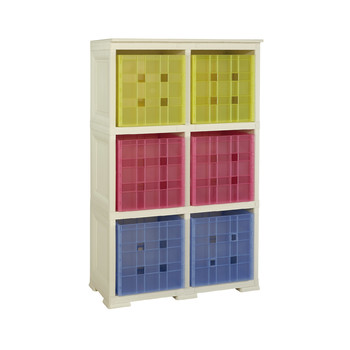 Omnimodus 6 Modular Cubed Box Storage Shelving Unit
