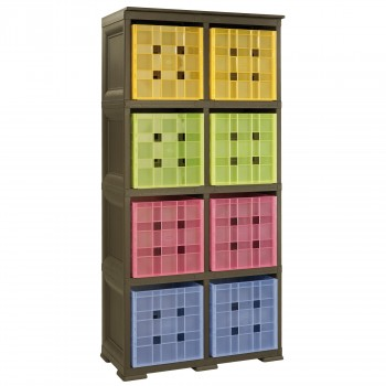 Omnimodus 8 Modular Cubed Box Storage Shelving Unit