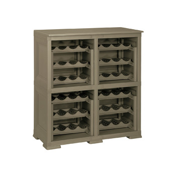 Omnimodus Wine Rack Shelving Unit For 48 Bottles