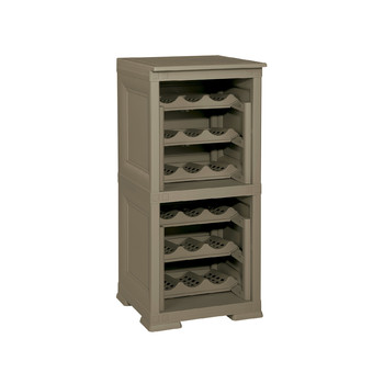 Omnimodus Wine Rack Shelving Unit For 18 Bottles