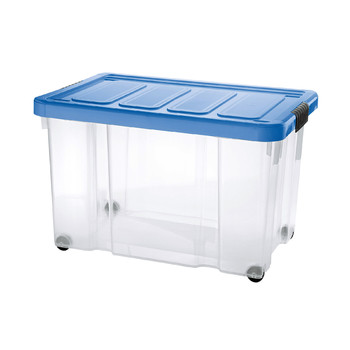 Puzzle Box with clips lid and wheels | 60 L